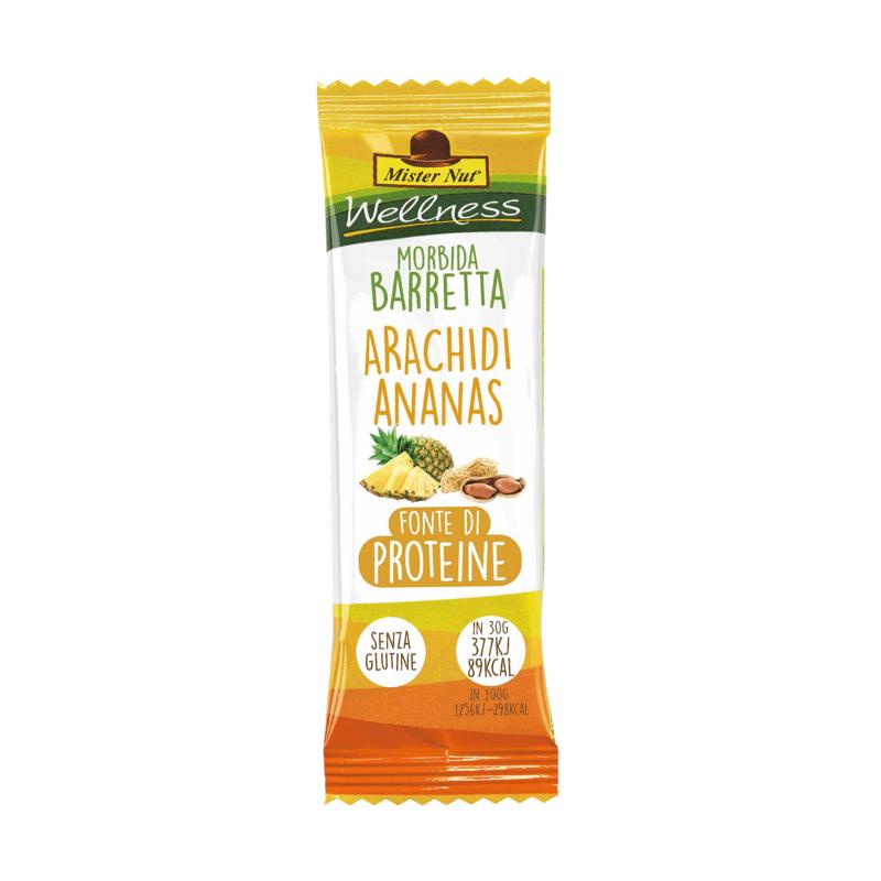 Barretta morbida con Arachidi, Ananas, Uva Sultanina- 30g