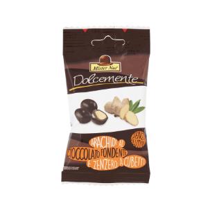 Arachidi al cioccolato fondente e zenzero a cubetti - 25g